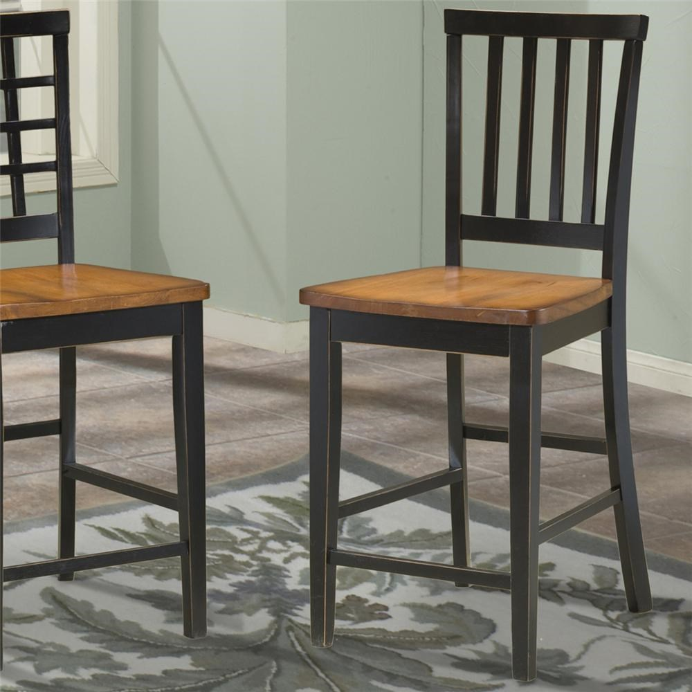 Intercon Arlington Slat Back 30 Inch Bar Stool Rooms For Less