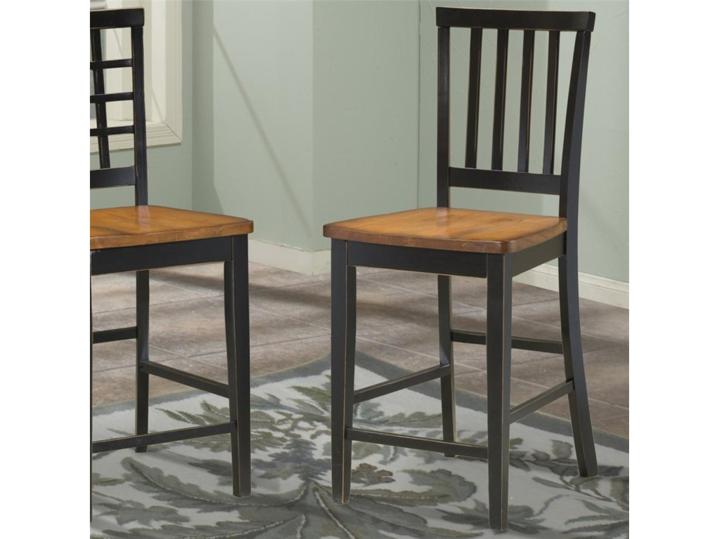 Intercon arlingtonslat back 24 inch bar stool