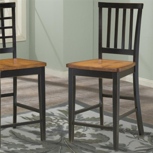 Intercon Arlington Slat Back 30 Inch Bar Stool Boulevard Home
