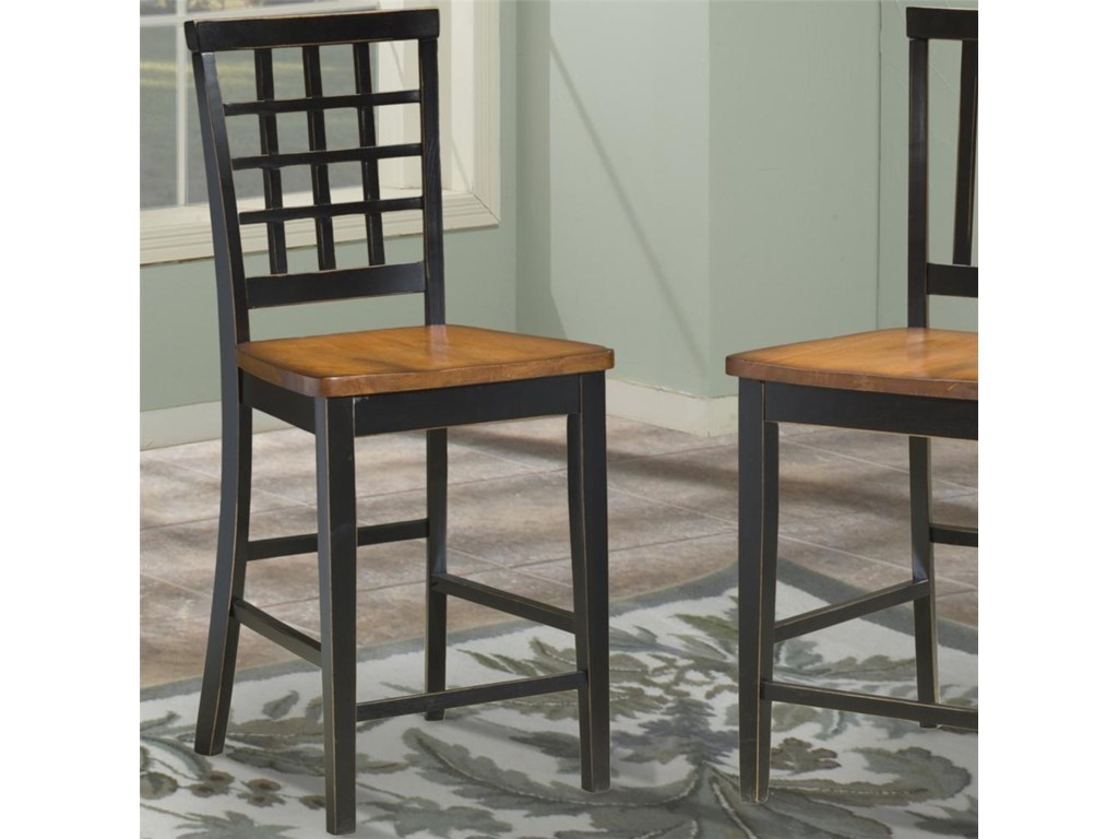 Intercon arlingtonlattice back 24 inch bar stool