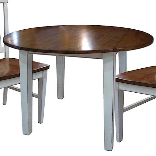 Intercon Arlington Round Drop Leaf Table