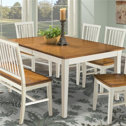 Intercon Arlington Four Leg Rectangular Dining Table Furniture - Dining room table for four