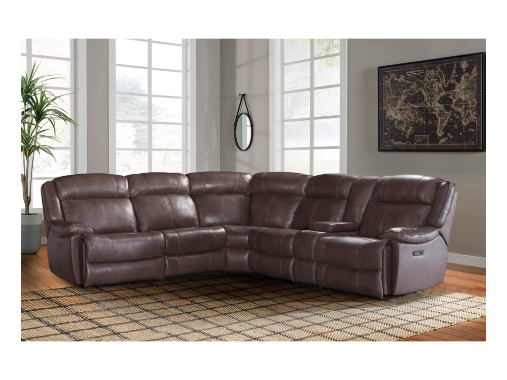 Intercon AvalonDual Power Reclining Sectional Sofa