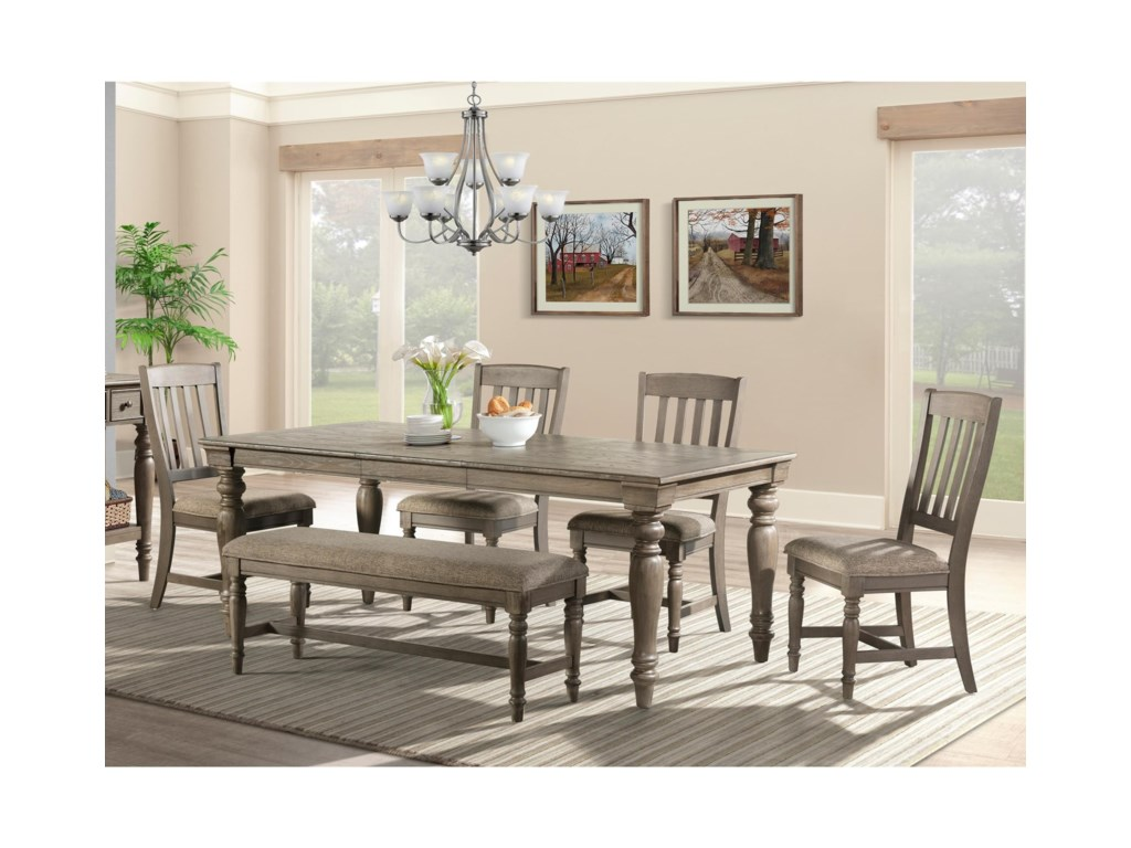 Intercon Balboa Park Table and Chair Set with Bench
