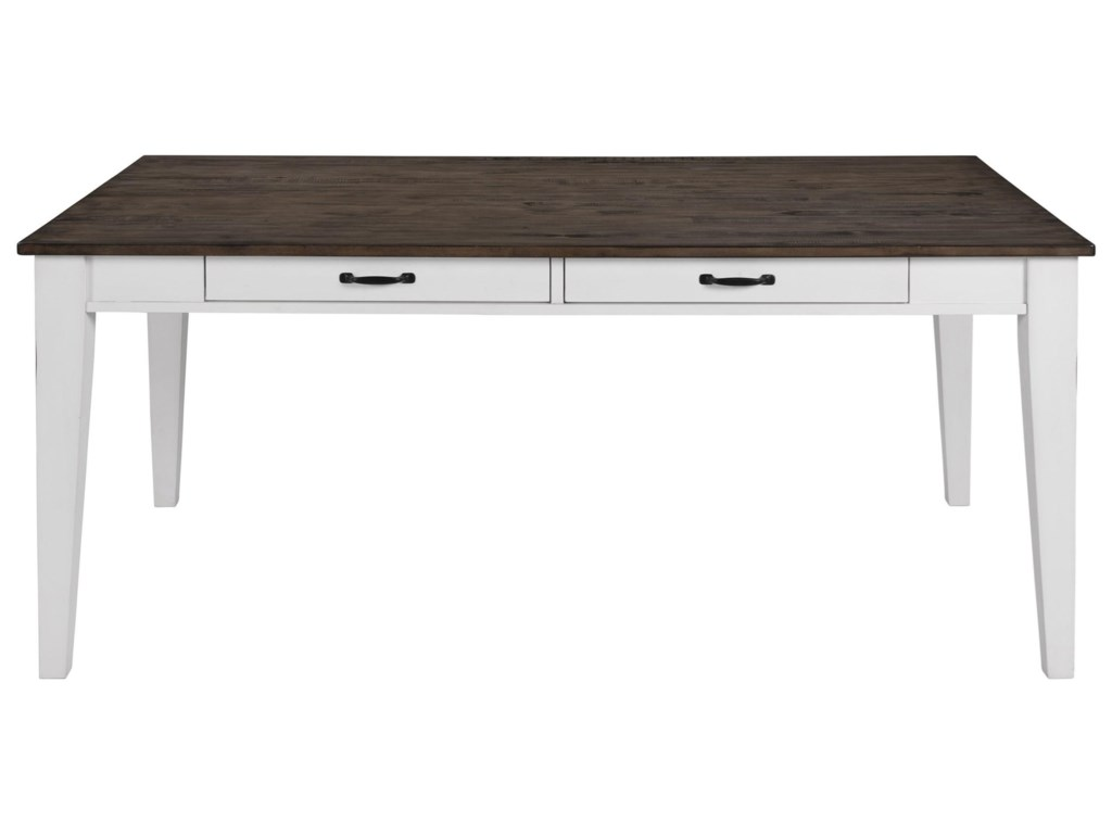 Intercon Belgium Farmhouse Rustic Dining Table with Drawer ...