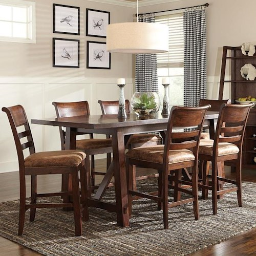 Intercon Bench Creek 7-Piece Gathering Height Table & Stools Dining Set