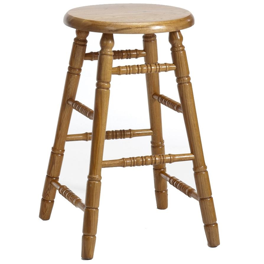 Intercon Classic Oak 24 Turned Backless Bar Stool Sadlers Home