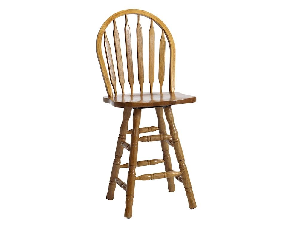 Furniture Bar Stools Intercon Clic Oak 24 Swivel Stool Oak24