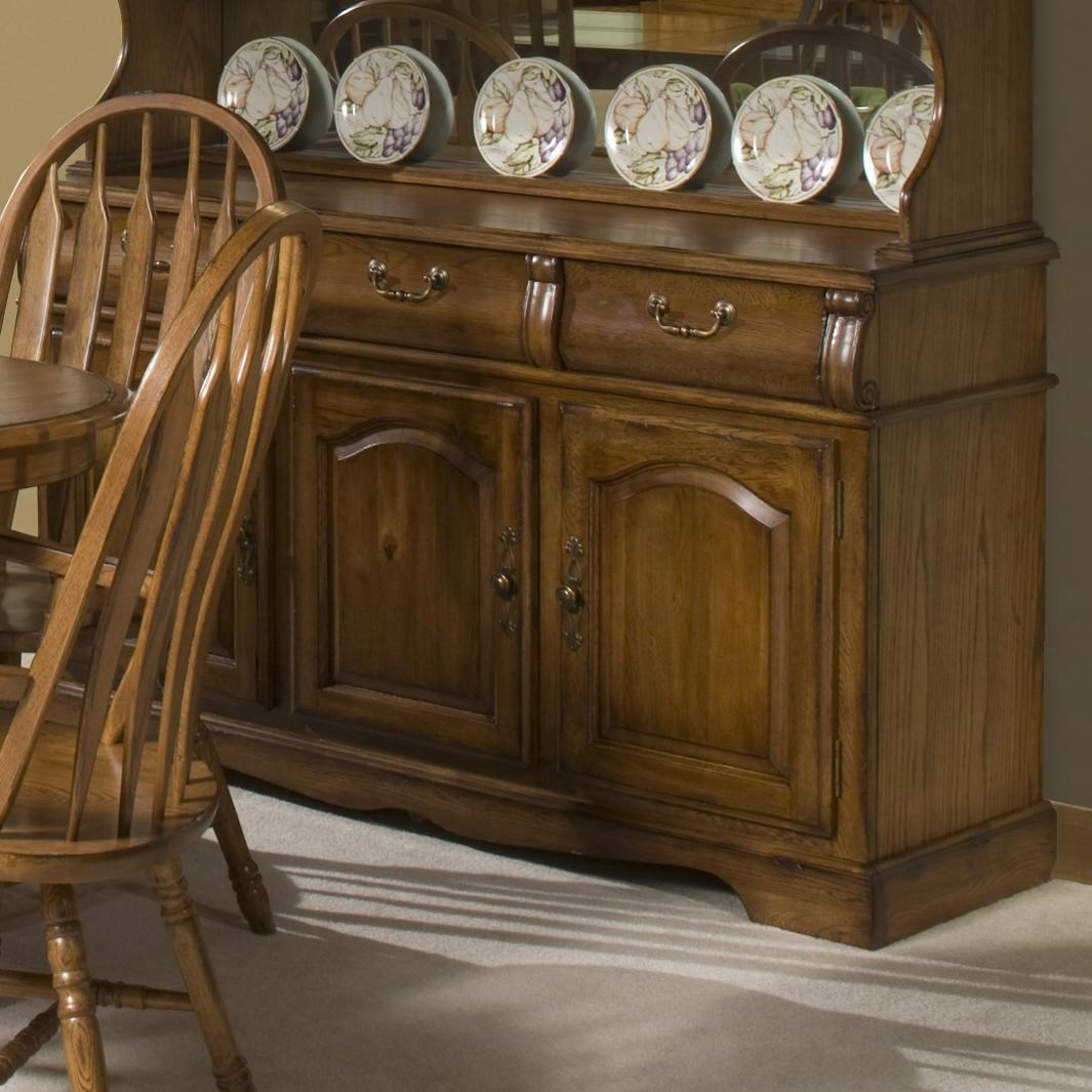 Merveilleux Intercon Classic Oak 60 Inch Buffet With Three Drawers And Doors