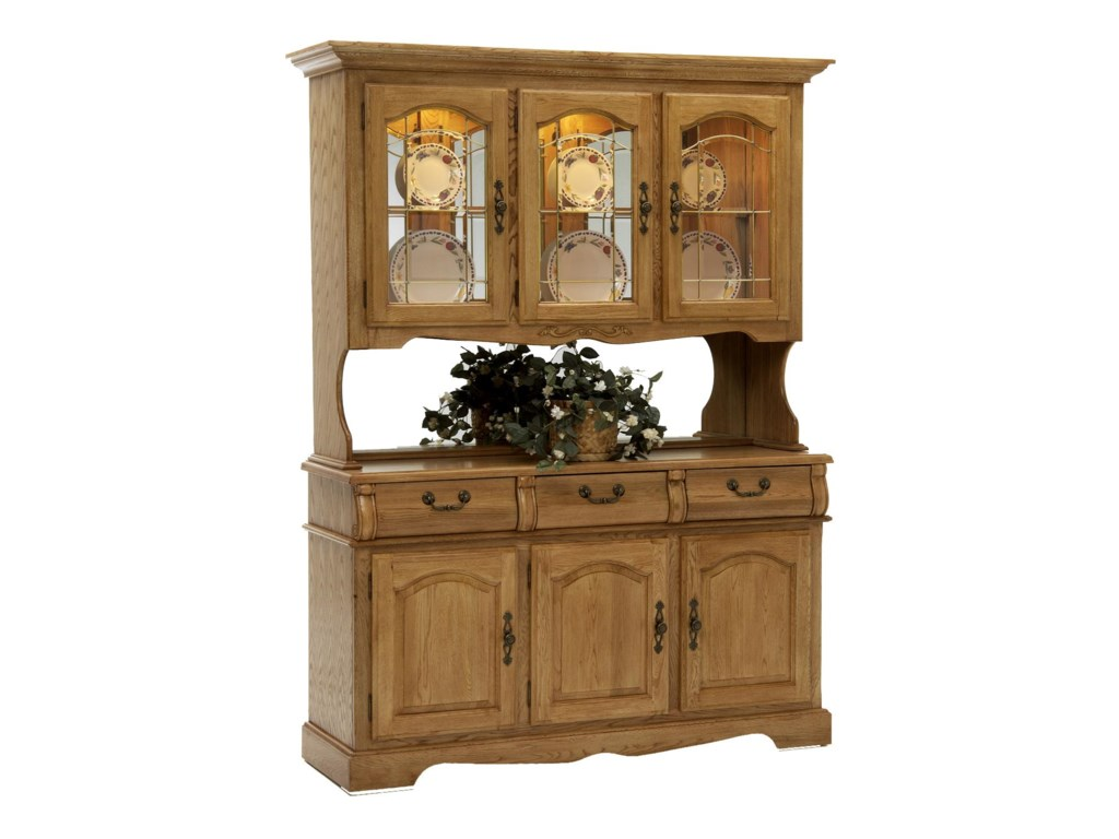Intercon Clic Oakchina Hutch And Buffet