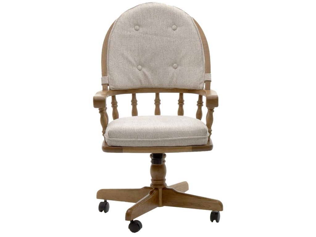 Intercon Classic OakGame Chair with Casters