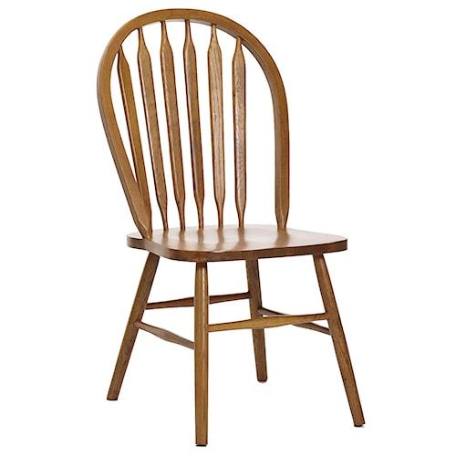 Intercon Classic Oak Plain Arrow Back Dining Side Chair