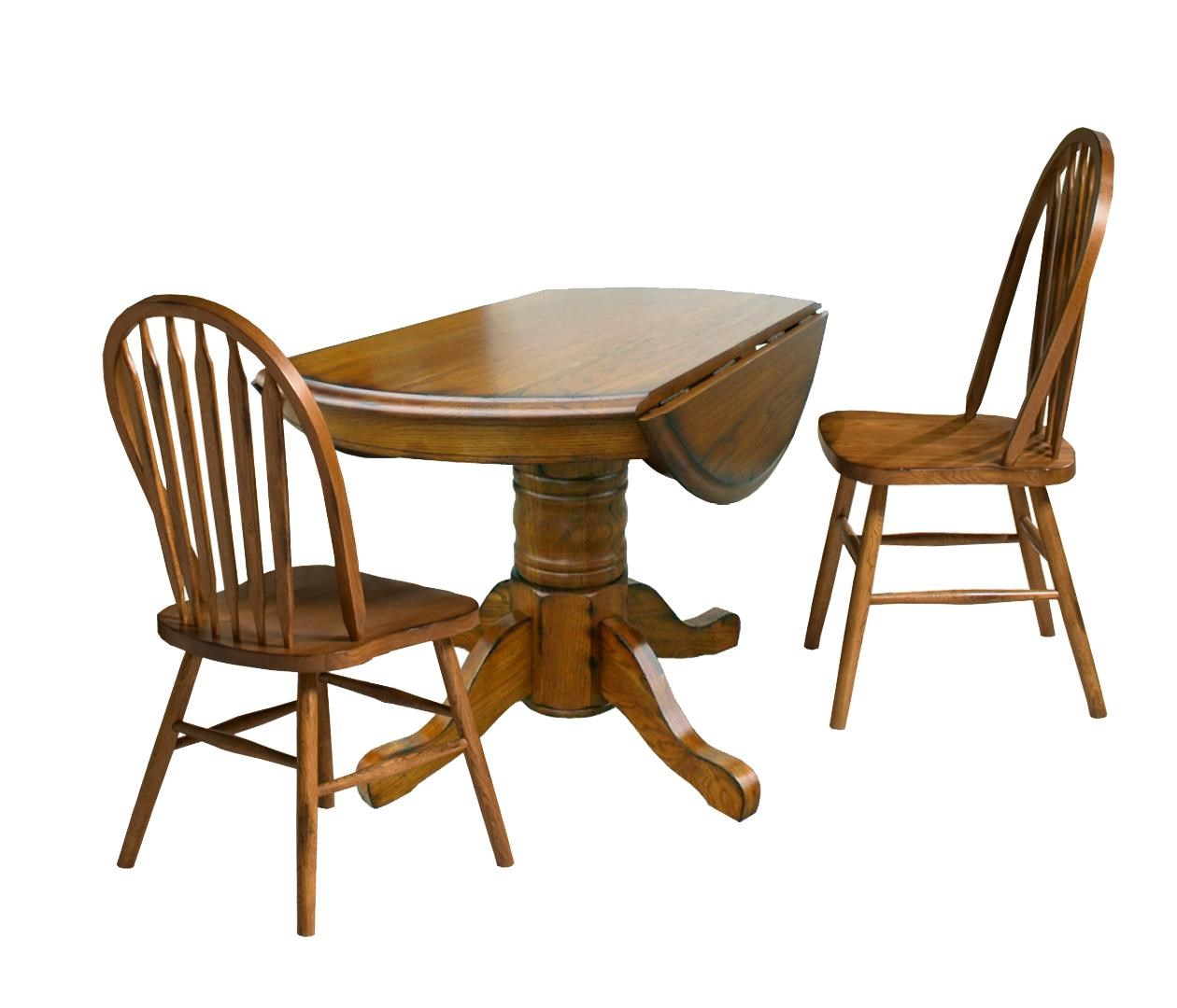 Intercon Classic Oak Three Piece Drop Leaf Table And Chair Dining Set