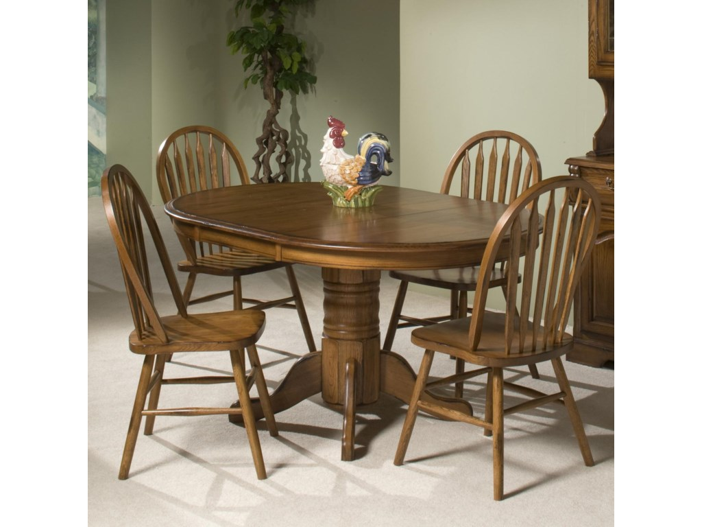 intercon classic oak solid oak table 4 chairs old brick furniture dining 5 piece set - Old Brick Dining Room Sets