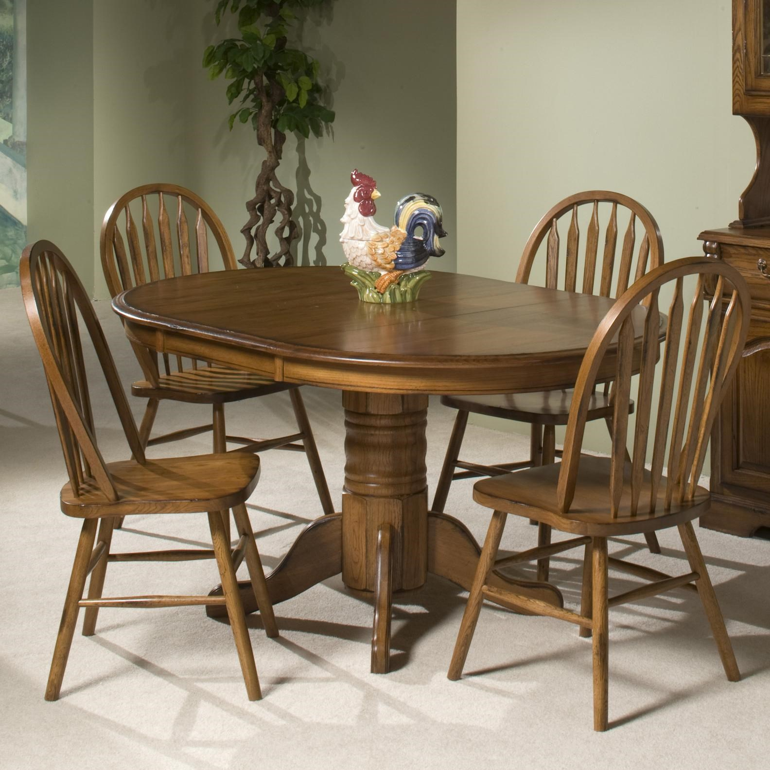 Intercon Classic Oak Solid Oak Table U0026 4 Chairs   Old Brick Furniture    Dining 5 Piece Sets