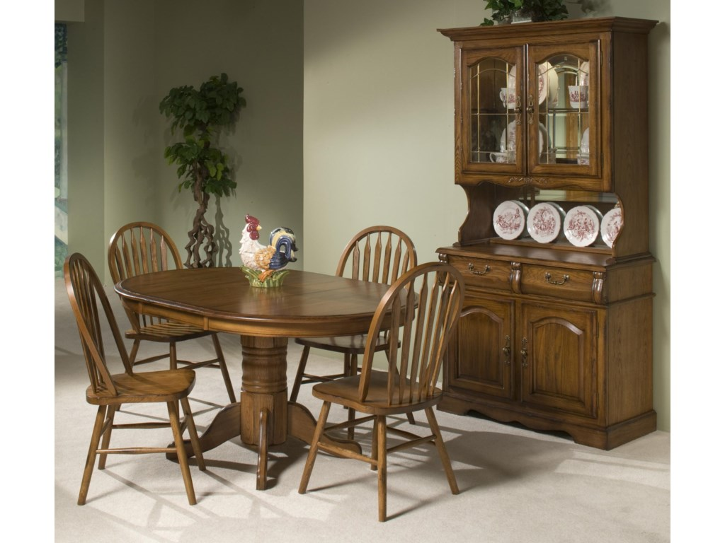 Intercon Classic Oak Solid Oak Table & 4 Chairs - Old Brick ...