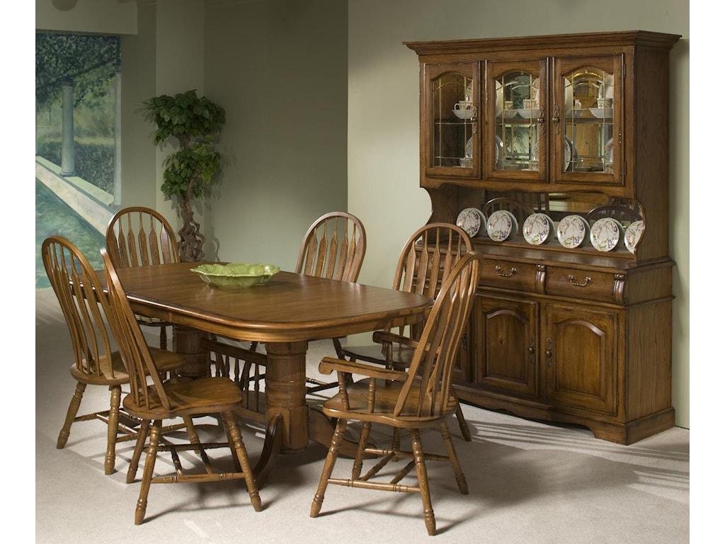 Intercon Classic OakTrestle Table