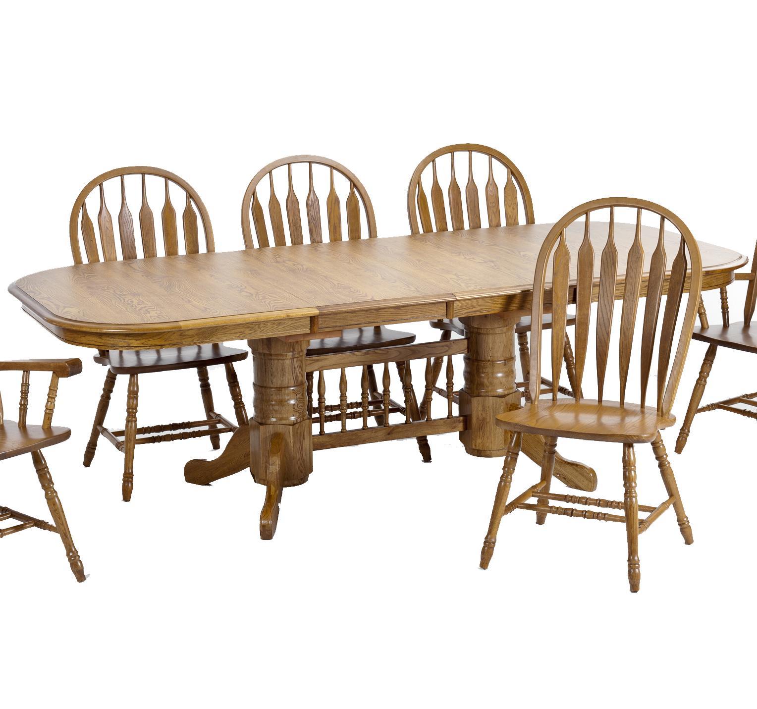 VFM Signature Classic OakTrestle Table ...