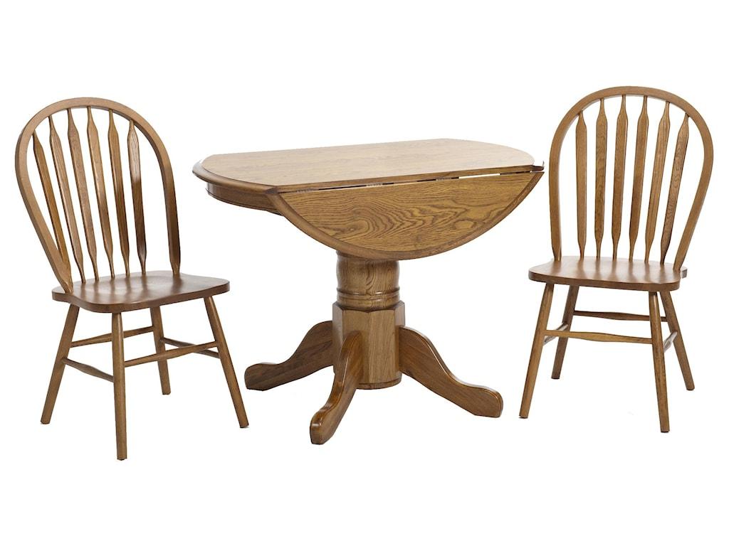 Intercon Classic Oak3 Piece Dining Set