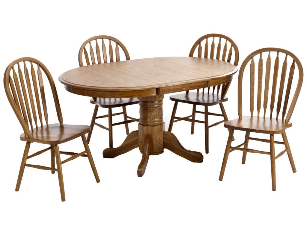 Intercon Classic OakPedestal Dining Table