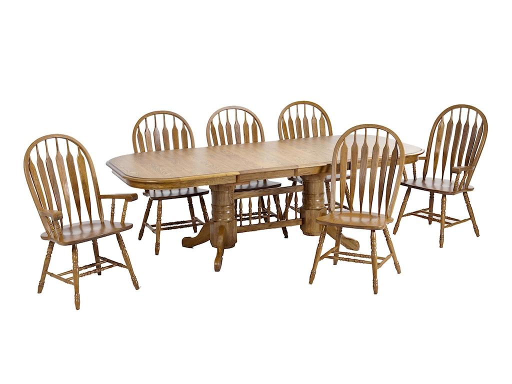 Intercon Classic OakTrestle Dining Table