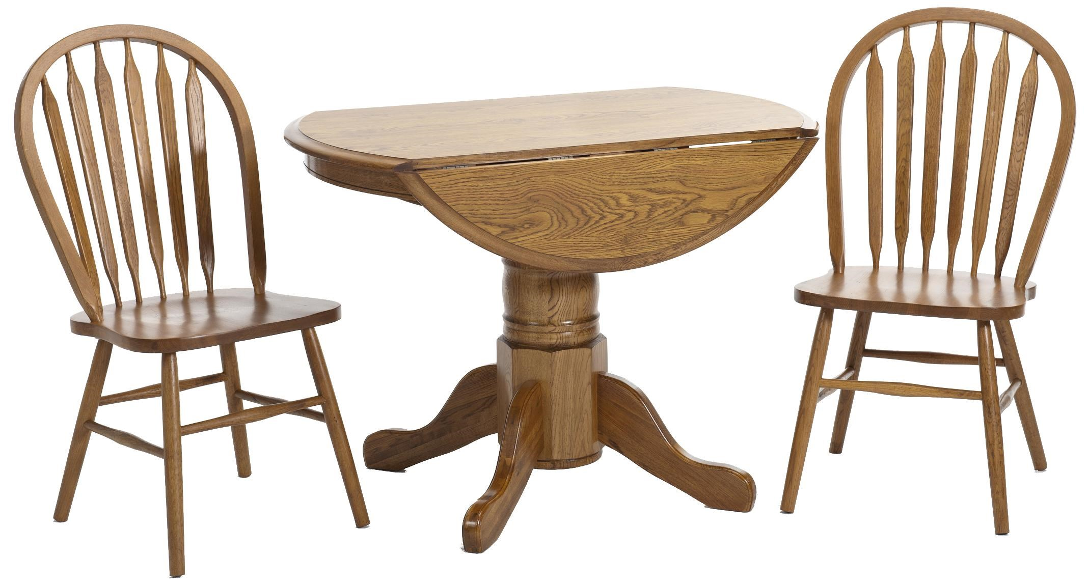 Intercon Classic Oak Three Piece Drop Leaf Table And Chair Set