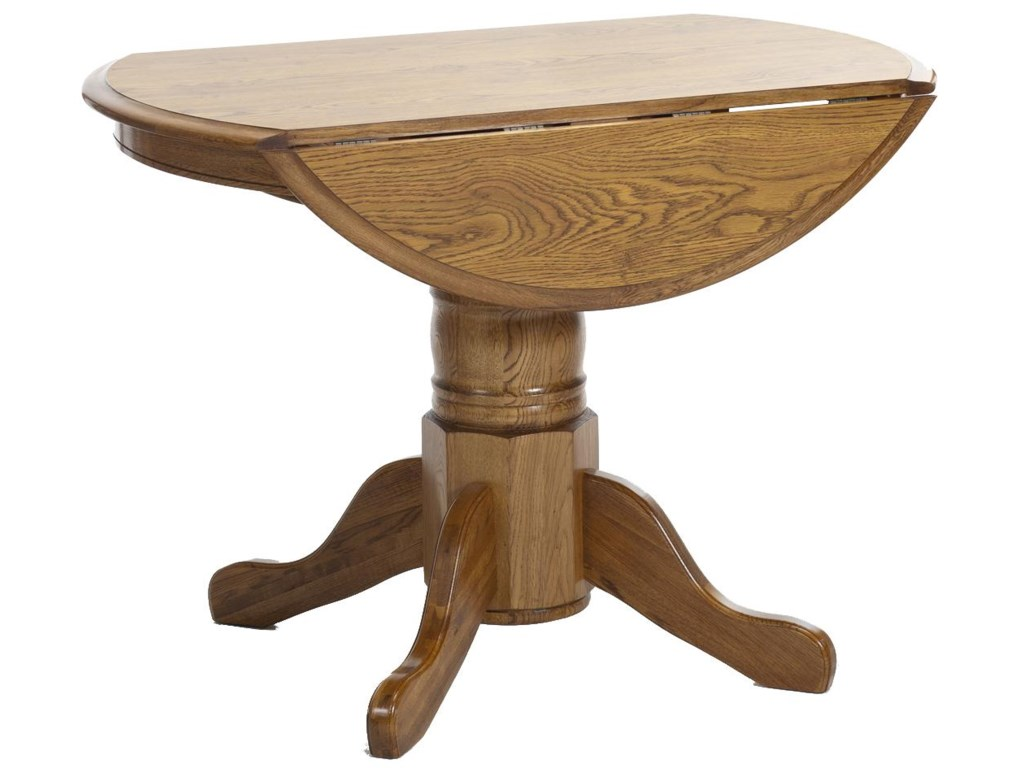Intercon Clic Oak Formica Top Drop Leaf Table