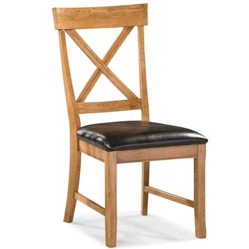 Intercon Family Dining Dining Chair with X-Back and Cushion