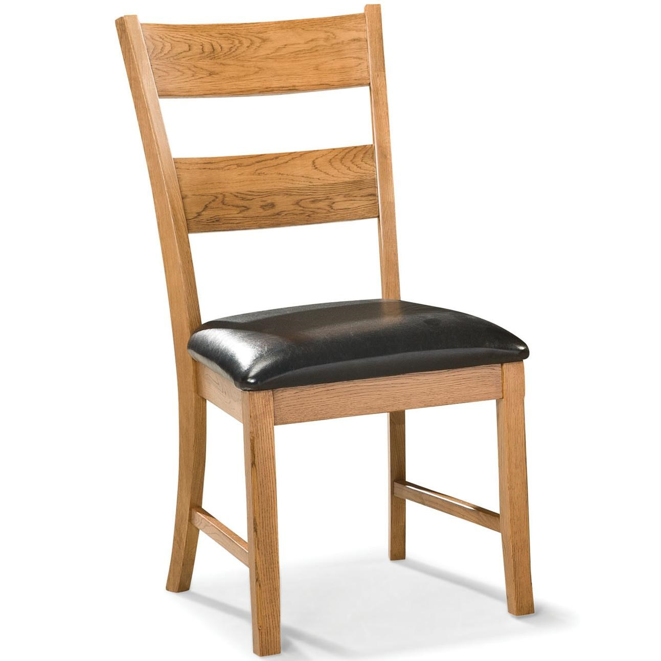 Dining Chair with Ladder Back and Cushion