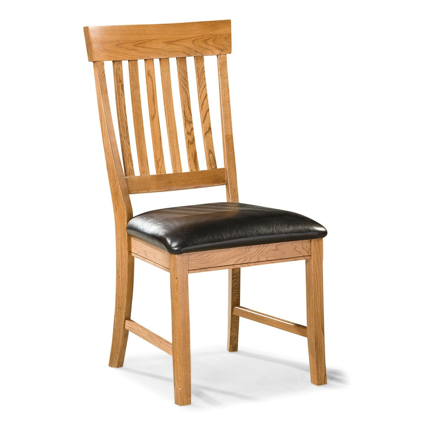Dining Chair with Slat Back and Cushion