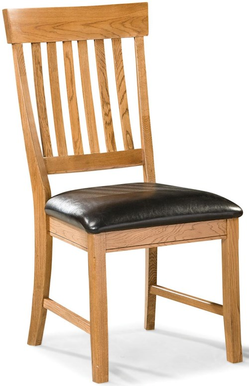Intercon Family Dining Dining Chair with Slat Back and Cushion