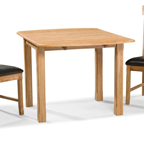 Intercon Family Dining Drop Leaf Dining Table with Block Legs