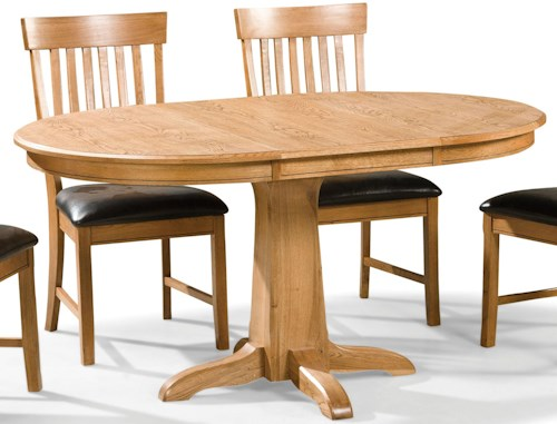 Intercon Family Dining Round Dining Table with Pedestal Base