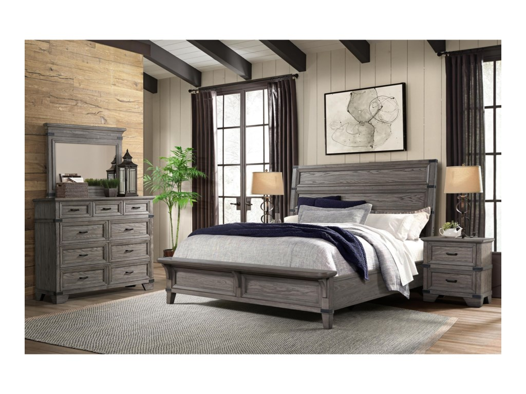 Intercon ForgeQueen Bedroom Group