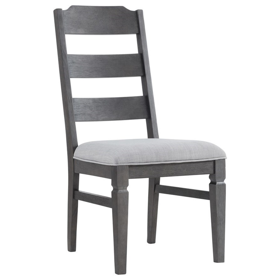 Intercon Foundry Relaxed Vintage Ladder Back Side Chair With Cushion Seat Wayside Furniture Dining Side Chairs