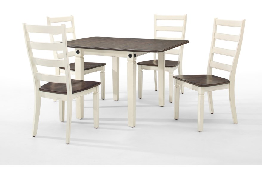 Silver Dining Table And Chairs, Intercon Glennwood 5 Piece Drop Leaf Table And Ladder Back Chair Set Story Lee Furniture Dining 5 Piece Sets