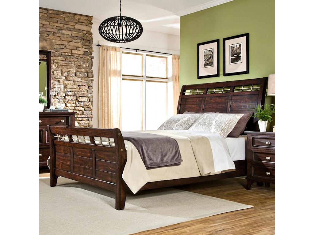 Intercon haydenqueen sleigh bed