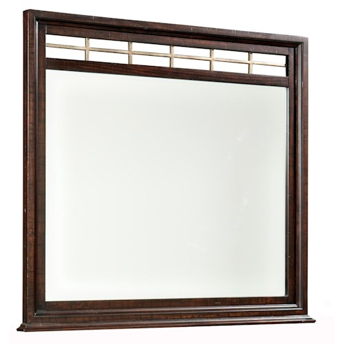 Intercon Hayden Landscape Dresser Mirror with Wood Frame & Metal Accent