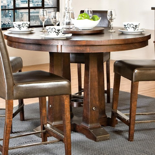 Intercon Hayden Round Gathering Table with Pedestal Base