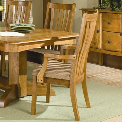 Intercon Highland Park  Dining Arm Chair
