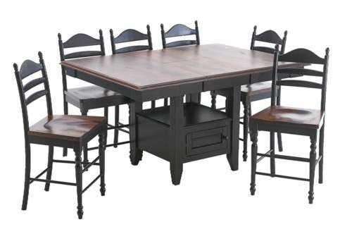 Intercon Hillside Village Gathering Island Table And