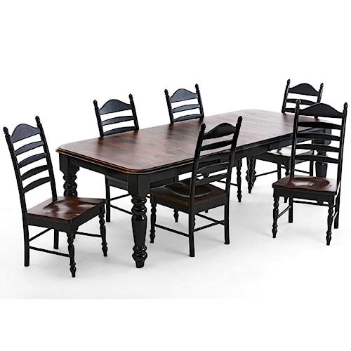 Intercon Hillside Village  Regular Four Leg Dining Table