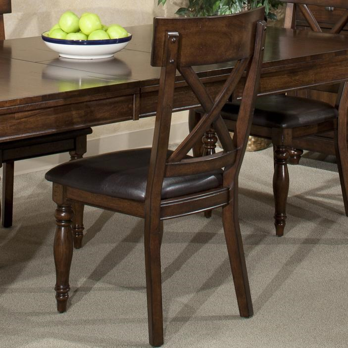 Intercon Kingston X Back Side Chair W/ Upholstered Seat