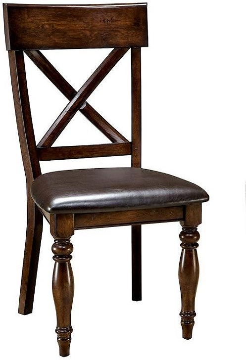 Intercon Caprice X-Back Side Chair w/ Upholstered Seat