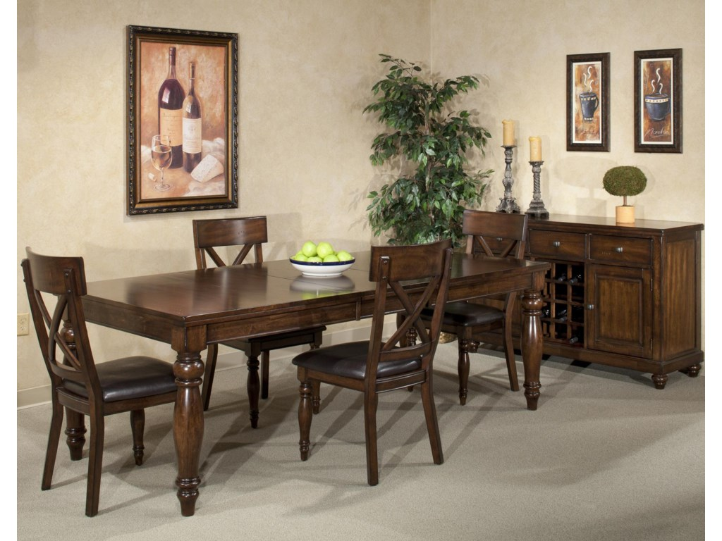 Table and Chair Set Shown in Room Setting with Server
