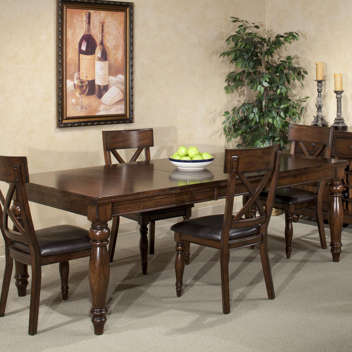 Lovely Intercon Kingston Dining Leg Table
