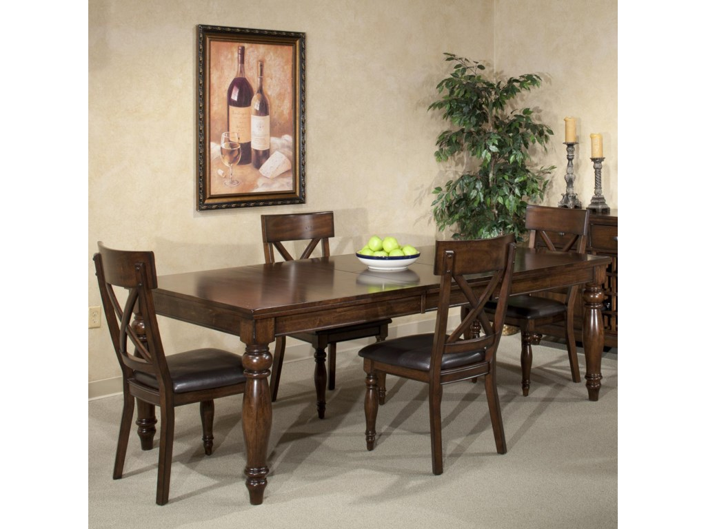 Table Shown with Side Chairs