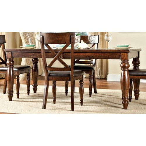 Intercon Caprice Dining Leg Table with Butterfly Leaf