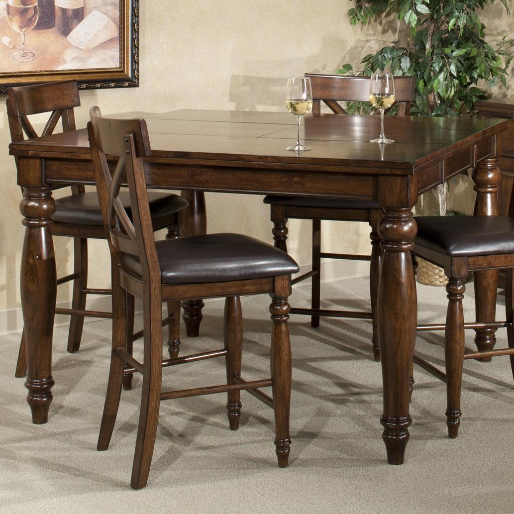 Superbe Intercon Kingston Counter Height Gathering Table With Butterfly Leaf