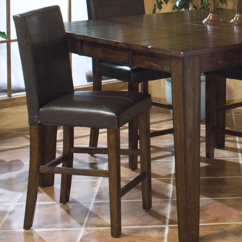 4f7441ad743 Intercon Kona Parson s Barstool with Upholstered Chair Back and Seat ...